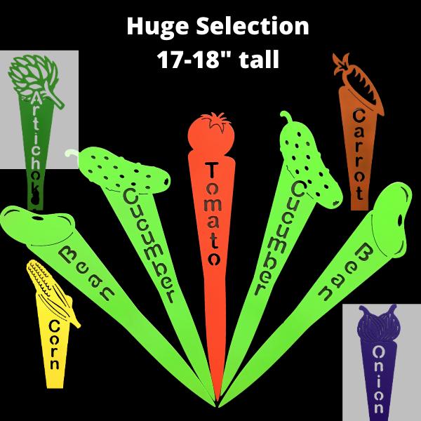 """metal garden markers-huge selection 18"""""""